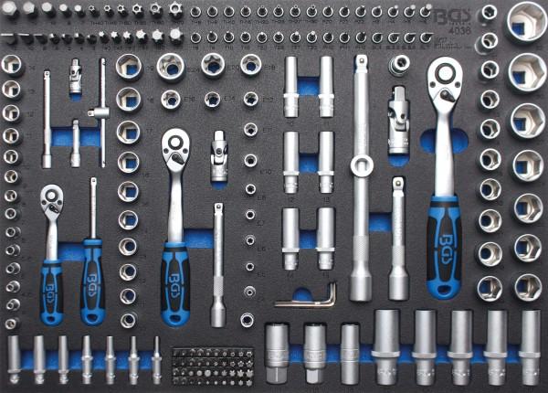 BGS 4036 3/3 Werkstattwageneinlage: Steckschlüssel-Satz, Pro Torque®, 192-tlg.