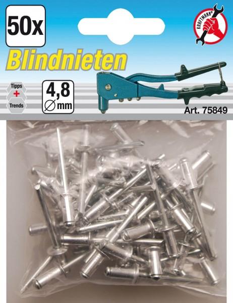 BGS 75849 Blindnieten 4,8 mm, 50 Stück