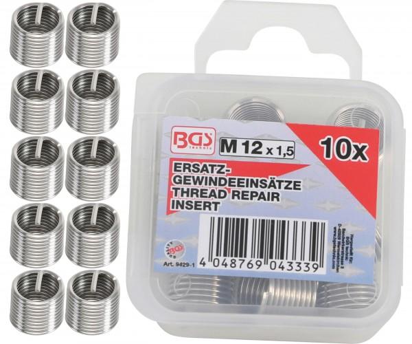 BGS 9429-1 10 Ersatz-Gewindeeinsätze, M12 x 1,5