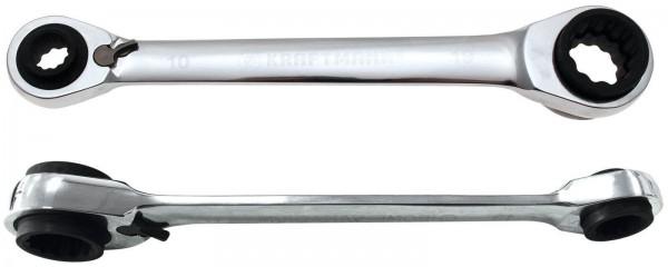 BGS 30007 Ratschenschlüssel, 4-in1, 10x13 - 17x19 mm