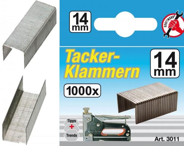 BGS 3011 Klammern à 1000 Stück, 14 mm