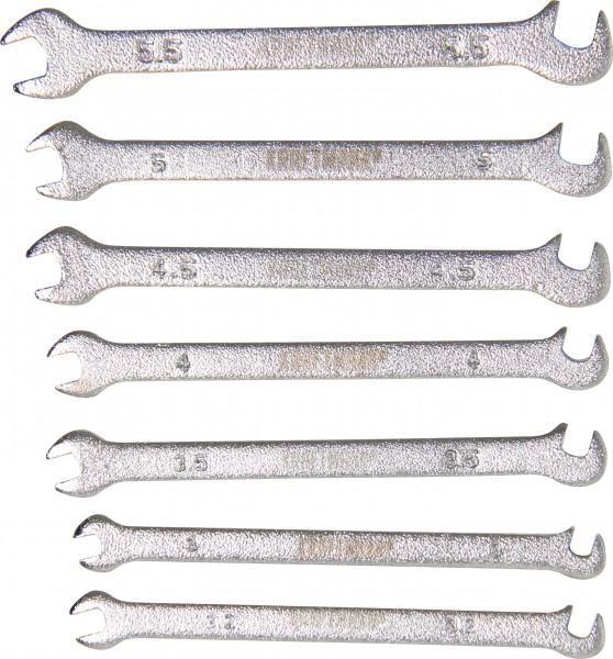 BGS 1239 Doppel-Maulschlüssel-Satz, Mini Ausführung, 3 - 5,5 mm, 7-tlg.