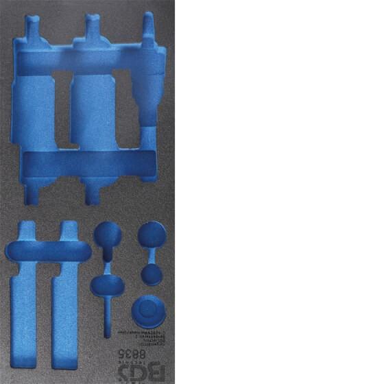 BGS 8835-1 1/3 Werkstattwageneinlage (408x189x32 mm), leer, für Motor-Einstell-Satz, passend für BGS