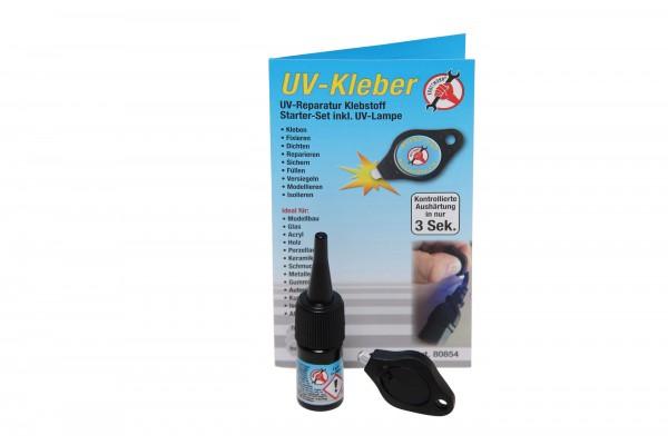 BGS 80854 UV-Kleber 3g, inkl. UV-Lampe