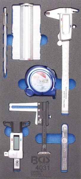 BGS 4031 1/3 Werkstattwageneinlage: Messwerkzeuge, 7-tlg.