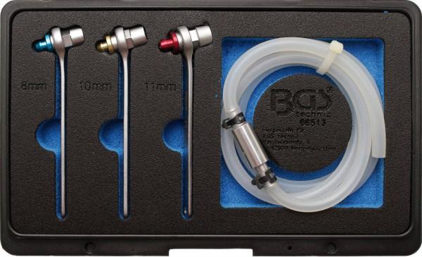 BGS 66513 Bremsen-Entlüfterschlüssel-Satz, 8-10-12 mm, 4-tlg.