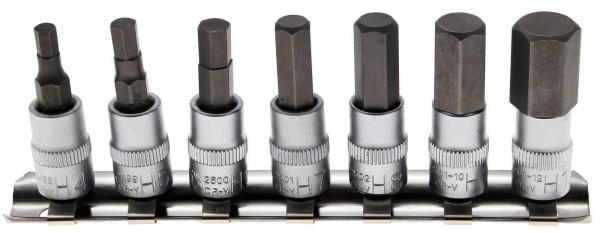 """BGS 2161 Innensechskant Bit-Einsätze, 7-tlg, 1/4"""" (6.3 mm)"""