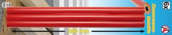 BGS 2071 Zimmermannsbleistifte, 25 cm, 6-tlg.