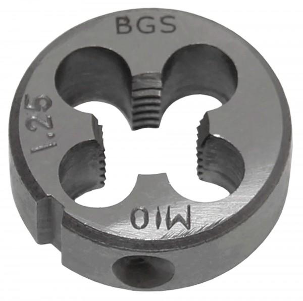 BGS 1900-M10X1.25-S Gewindeschneideisen M10x1.25x25 mm
