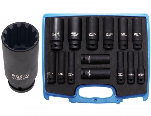 """BGS 5209 Kraft-Steckschlüsseleinsatz-Set """"Gearlock"""", 10 - 32 mm"""