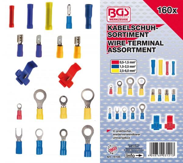 BGS 14105 Kabelschuh-Sortiment, 160-tlg.