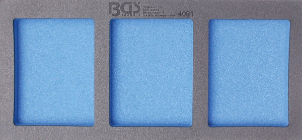 BGS 4091 1/3 Werkstattwageneinlage: Leereinlage mit 3 Ablagefächern