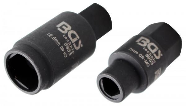 BGS 8953 3-Kant-Einsätze für Bosch Einspritzpumpen, 7.0 mm und 12.6 mm
