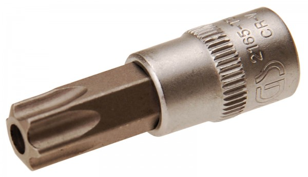 BGS 2165-T50 Bit-Einsatz, 6,3 (1/4), T-Profil mit Bohrung, T50