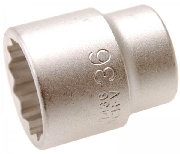 BGS 7436 Steckschlüssel-Einsatz, 20 (3/4), 12-kant, 36 mm