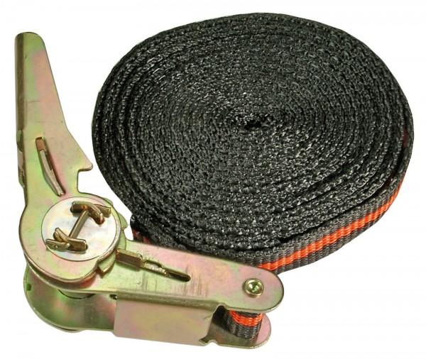 BGS 3550 Knarren-Spannband, 5 m lang, 24 mm breit, TÜV/GS