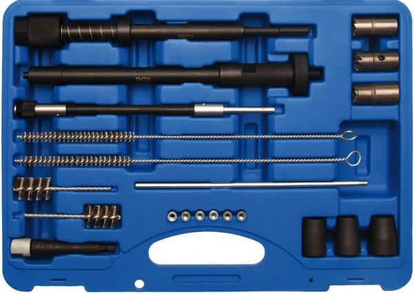 BGS 8723 Injektorsitz- und Schacht Reinigungssatz 21-tlg