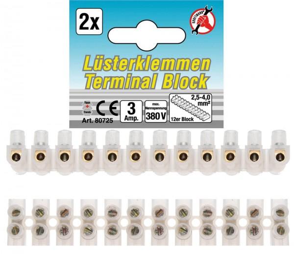 BGS 80725 Lüsterklemmen 2,5mm², 2 Stück, 12er Block