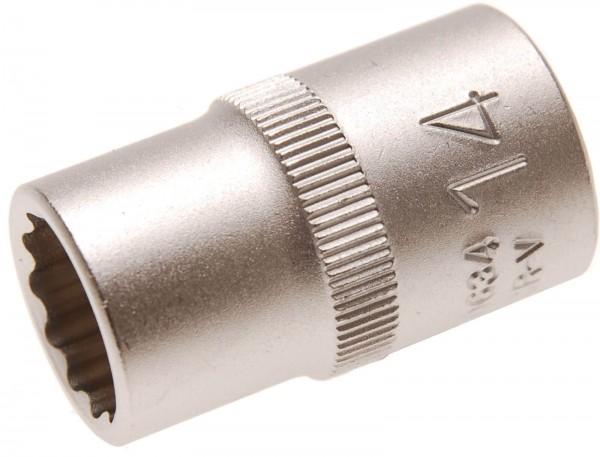 BGS 10634 Steckschlüssel-Einsatz 12-kant, 12,5 (1/2), 14 mm