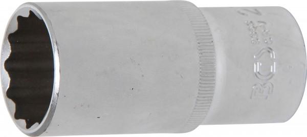 BGS 9363 Steckschlüssel-Einsatz, 12,5 (1/2), 12-kant, tief, 27 mm
