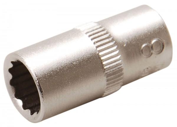 BGS 10778 Steckschlüssel-Einsatz, 6,3 (1/4), 12-kant, 8 mm