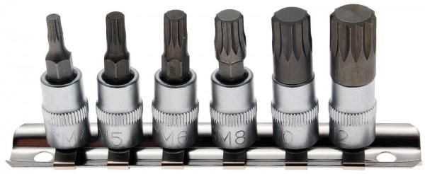"""BGS 2162 Innenvielzahn Bit-Einsätze, 6-tlg.1/4"""" (6.3 mm)"""