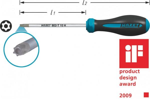 Hazet 802-T25H HEXAnamic TORX Schraubendreher s T25H Tamper Resistant TORX