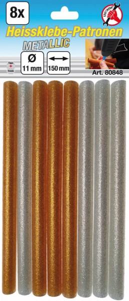 BGS 80848 Heissklebe-Patronen Metallic gold/silber 11 mm, 8-tlg.