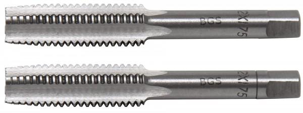 BGS 1900-M12X1.75-B Gewindebohrer M12x1.75, Vor- & Fertigschneider, 2-tlg.