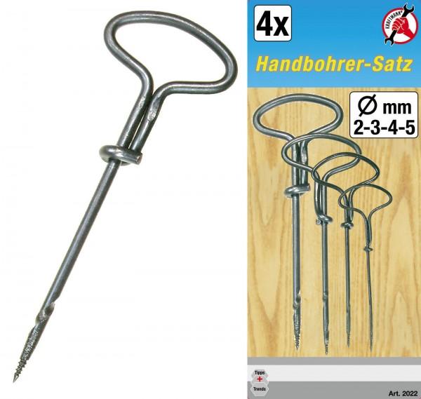 BGS 2022 Handbohrersatz, 2-5 mm, 4-tlg.