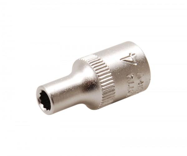 BGS 10774 Steckschlüssel-Einsatz, 6,3 (1/4), 12-kant, 4 mm