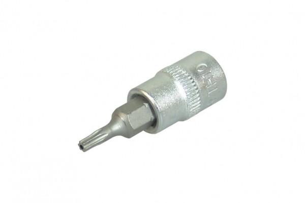 """BGS 2357 Torx-Steckschlüssel 1/4"""" T10 x 38 mm mit Bohrung"""