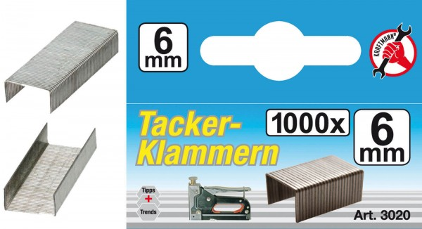 BGS 3020 Klammern à 1000 Stück, 6 mm