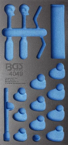 BGS 4049-1 1/3 WWE, leer für: Hahnenfußschlüssel und Offen Ringschlüssel, 15-tlg