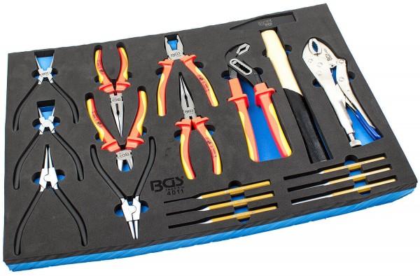BGS 4011 Werkstattwagen Einlagen Set Hand Werkzeug 17-tlg.