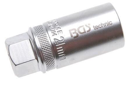 """BGS 2403 Zündkerzenschlüssel SW 21 mm Steckschlüssel 1/2"""" mit Feder"""