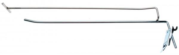 BGS 89917 Einzelhaken 300 x 4,8 mm mit Tragarm und Querpin