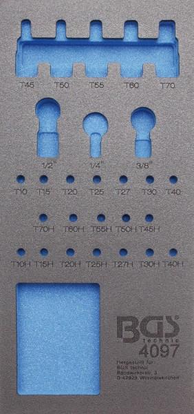 BGS 4097-1 Werkstattwageneinlage 1/3, leer für: Bit- und Biteinsatz 27-tlg.