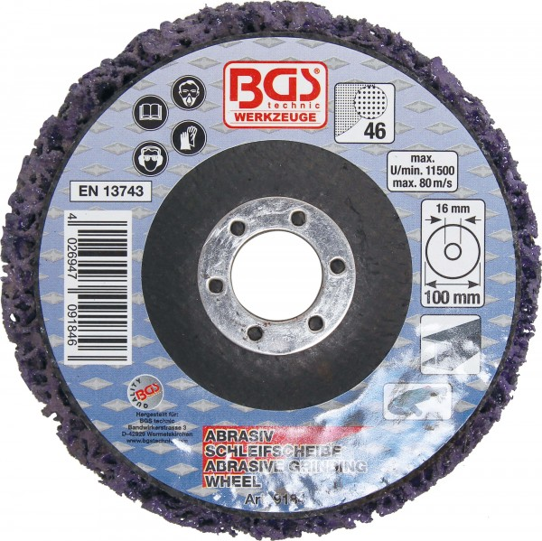 BGS 9184 Abrasiv-Schleifscheibe, schwarz, 100 x 16 mm