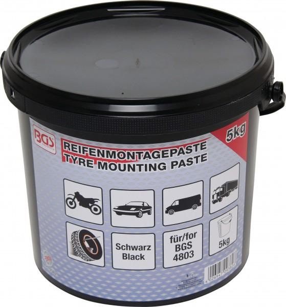 BGS 9382 Reifenmontagepaste, schwarz, 5 Kg Eimer