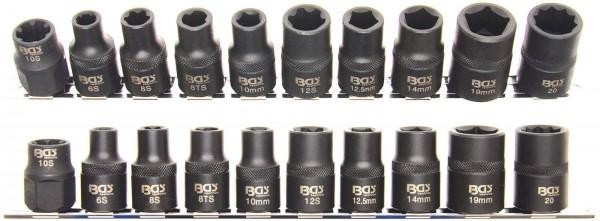 BGS 2560 Spezial-KFZ-Steckschlüsseleinsätze 3 - 5 - 6 - 10-kant, 10-tlg.