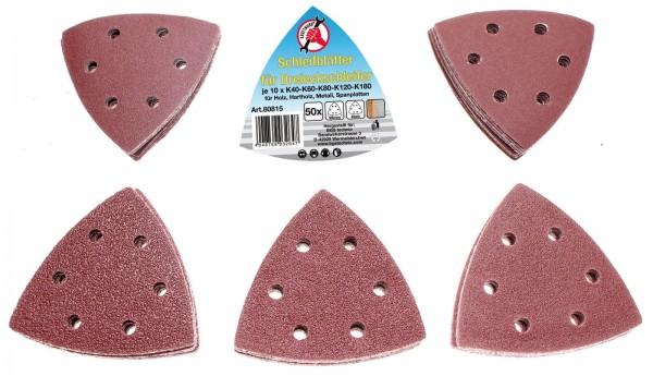 BGS 80815 Schleifblätter für Dreieckschleifer 50-tlg.