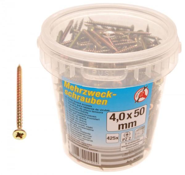 BGS 80981 Mehrzweckschrauben 4,0 x 50 mm, 425 Stück