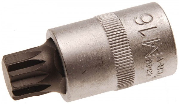 BGS 4346 Bit-Einsatz, Innenvielzahn M16 x 55 mm, 12,5(1/2)