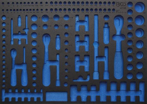 BGS 4036-1 3/3 Werkstattwageneinlage (408x567x32 mm), leer, für Steckschlüssel-Satz, Pro Torque®, 19