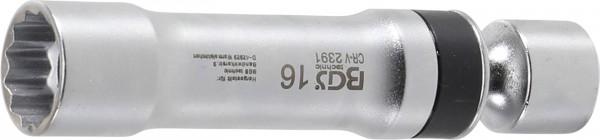 BGS 2391 Zündkerzen Gelenkeinsatz, 16 mm, 12-kant mit Haltefeder
