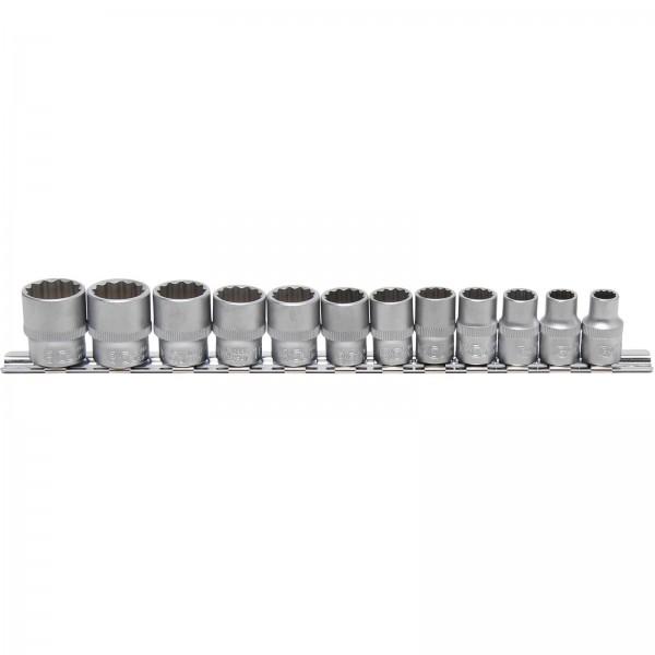 BGS 9105 Steckschlüssel-Einsatz-Set, 10 (3/8), 12-kant, 8 - 19 mm, 12-tlg.