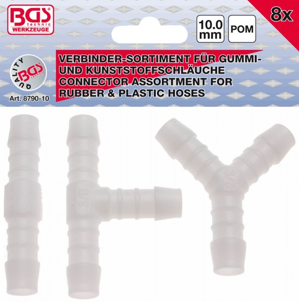 BGS 8790-10 Schlauchverbinder-Sortiment, 10 mm