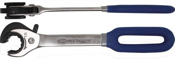 BGS 30835 Ratschen-Ringschlüssel, offen, 15 mm