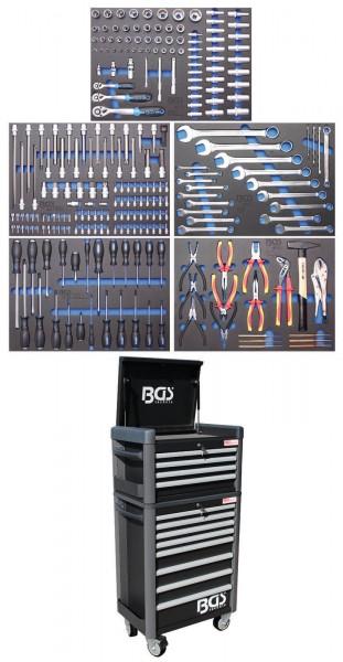 BGS 4088 Werkstattwagen Profi Standard Maxi komplett mit 243 Werkzeugen